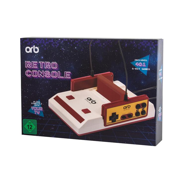 ORB - Retro Konsole Video Game System inkl. 401x 8-Bit Spielen