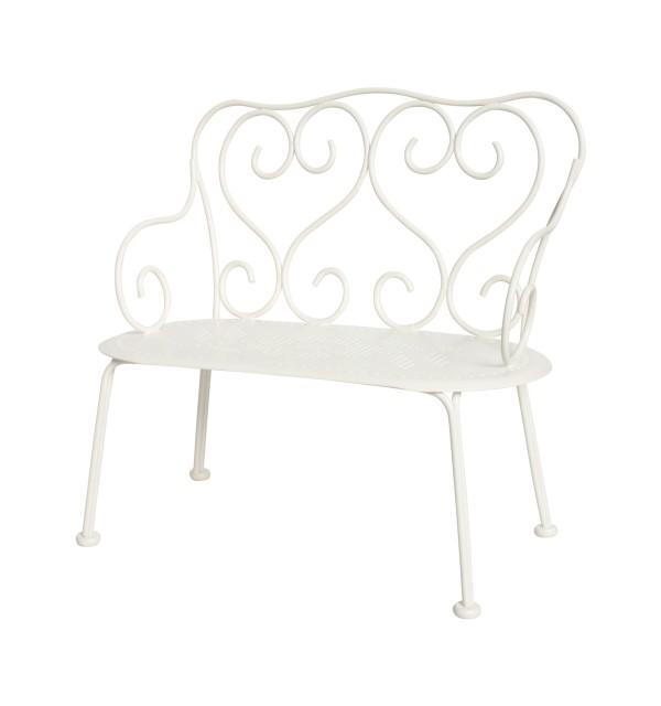 Romantic bench, Offwhite