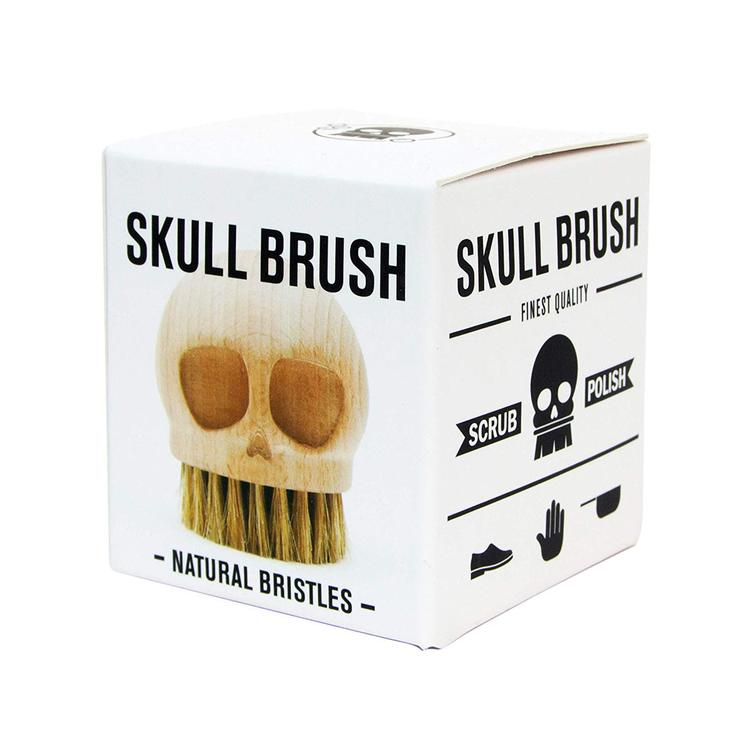 Skull Brush - natural bristles
