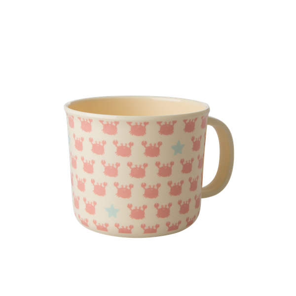 Melamine Baby Cup with Crabs and Starfish Print