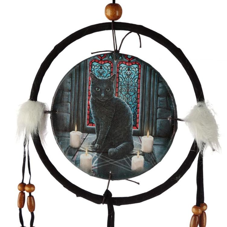 Lisa Parker Sacred Circle Cat Dreamcatcher 16cm