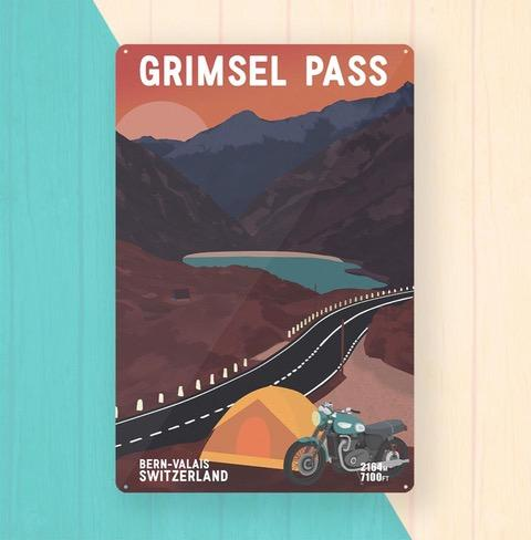 Grimsel Pass Metal Art