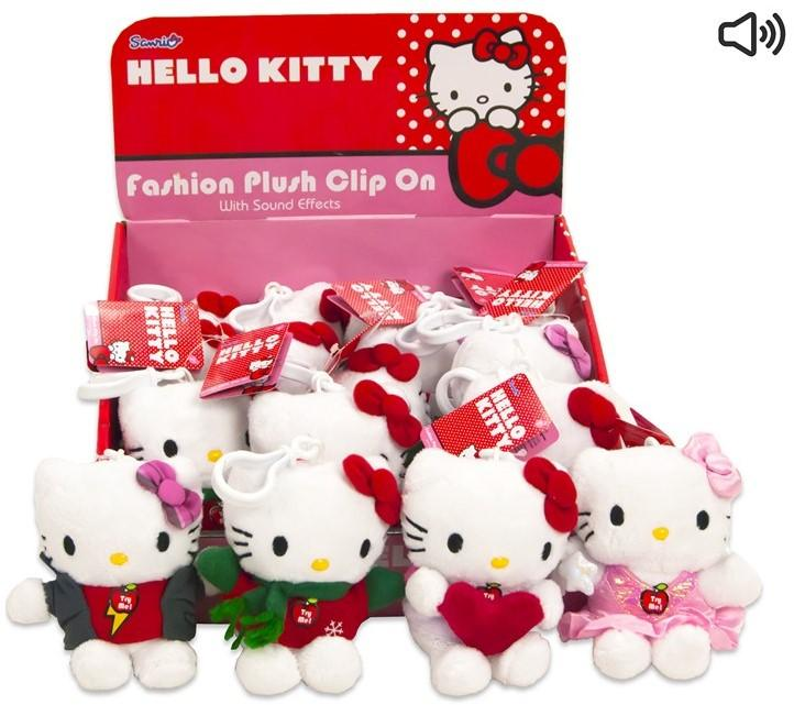 Hello Kitty Plusch Bagclip avec sound