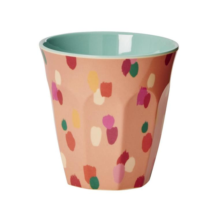 Small Melamine Cup - D Dot