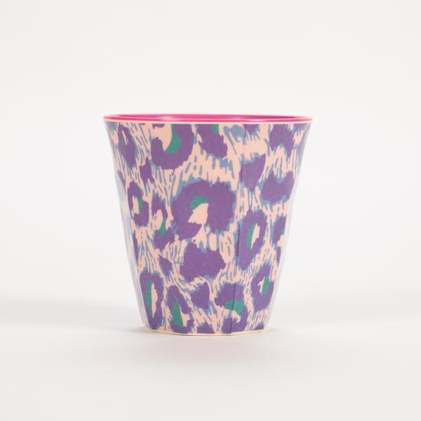 Small Melamine Cup - Two Tone - Leopard