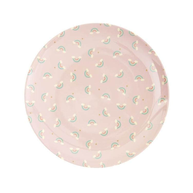 Melamine Kids Lunch Plate - Rainbow Print - RICE