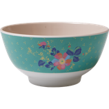 Medium Melamine Bowl - Two Tone - Small Dotty Flower Print