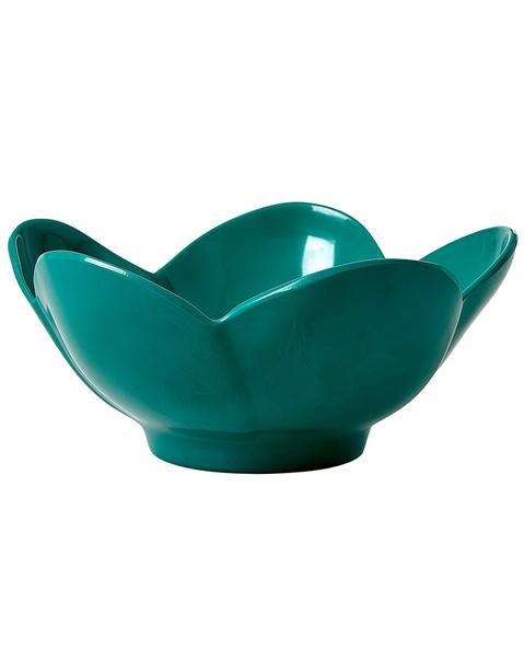Melamine Bowl in Flower Shape - Dark Green