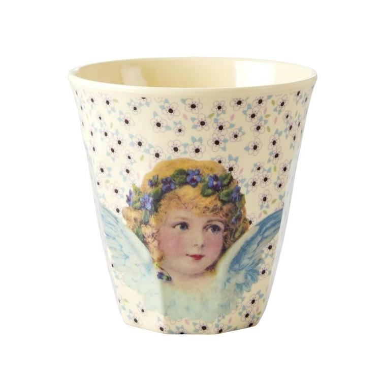 Medium Melamine Cup - Two Tone -Angel Print