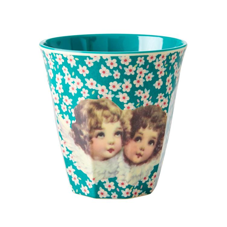 Medium Melamine Cup - Two Tone -Angels Print