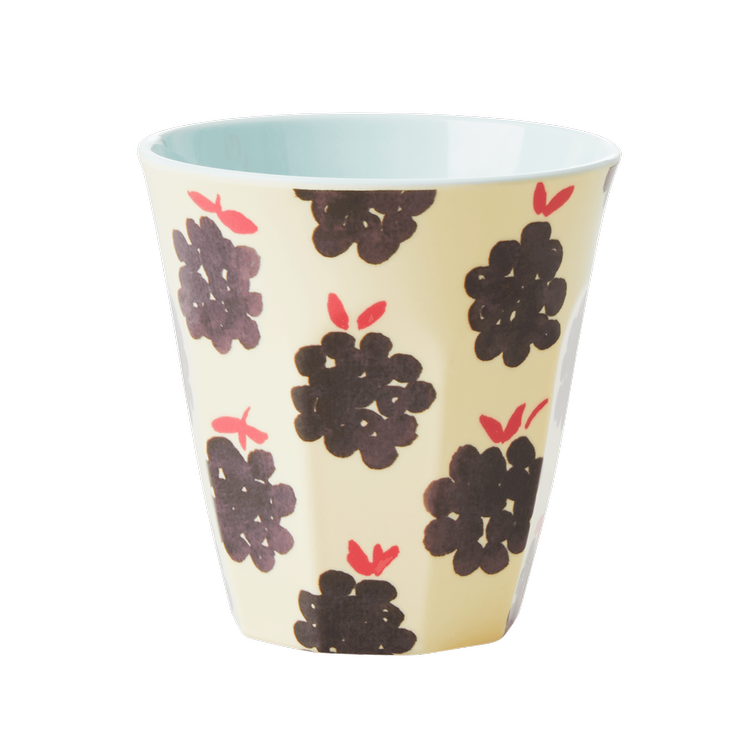 Melamine Cup with Blackberry Print - Medium