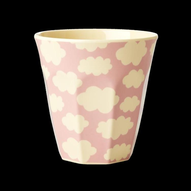 Melamine Cup with Cloud Print - Pink - Medium