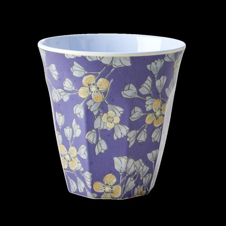 Medium Melamine Cup - Two Tone - Hanging Flower Print
