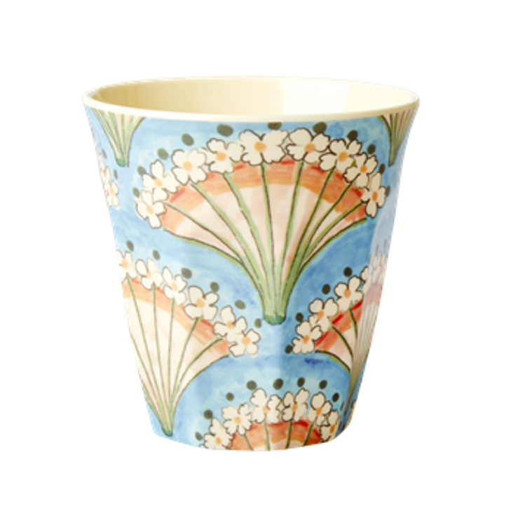 Small Melamin Cup Flower Fan