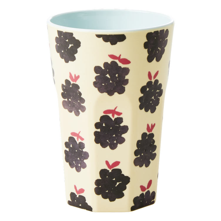 Melamine Cup with Blackbberry Print - Tall