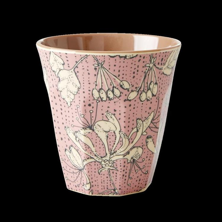 Medium Melamine Cup - Two Tone - Wild Chervil Print