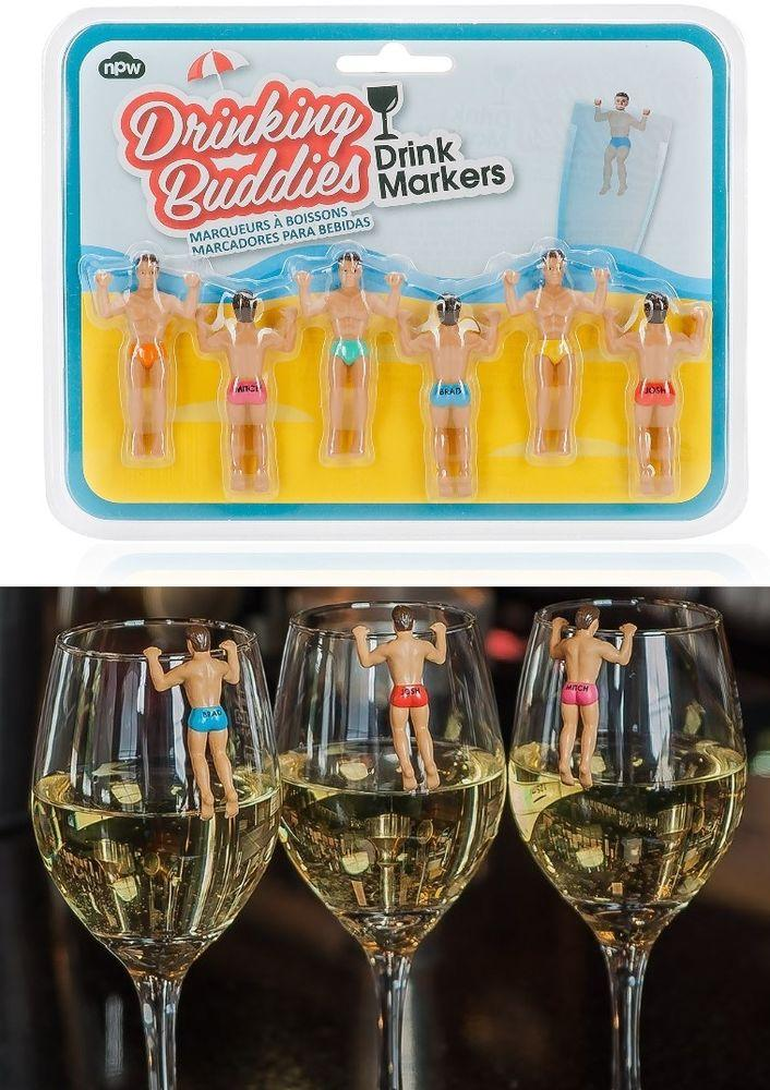 NPW 6er-Set Glasmarkierer `Beachboys`