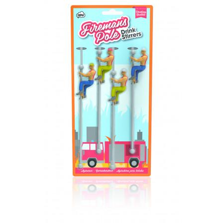 NPW Fireman Buddies Drink Stirrers