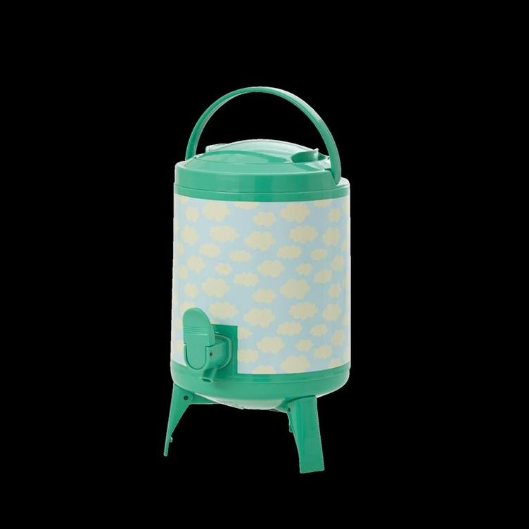 Plastic Cooler Tank with Sky Print - Green and Blue - 4L.