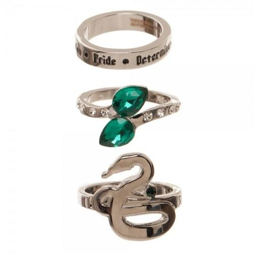 SLYTHERIN 3PK RING SET