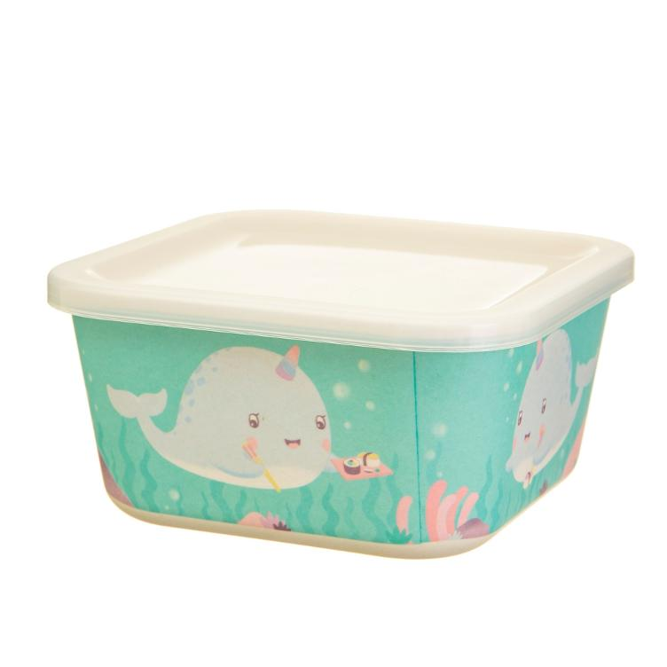 Lunchbox Bamboo Square Narwal